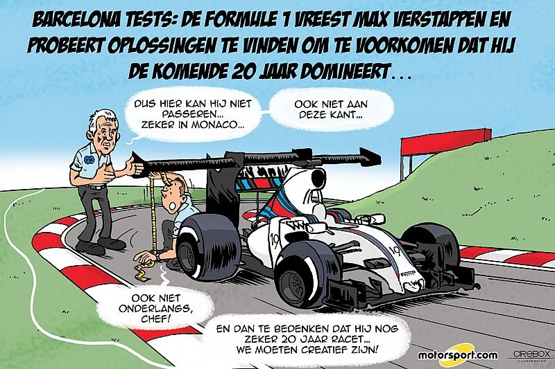 Cartoon van Cirebox - Formule 1 vreest Max Verstappen