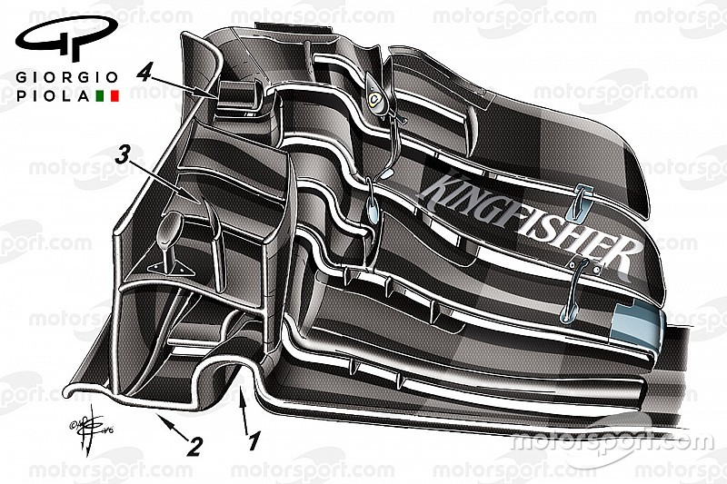 Технічний аналіз: Force India сподівається, шо переднє крило змінить сезон