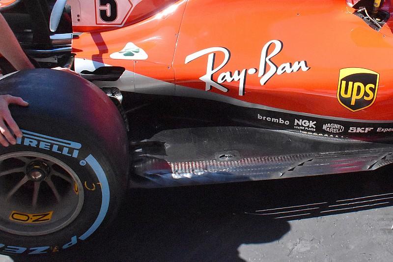 Ferrari: il fondo piatto della SF71H adesso ha tre