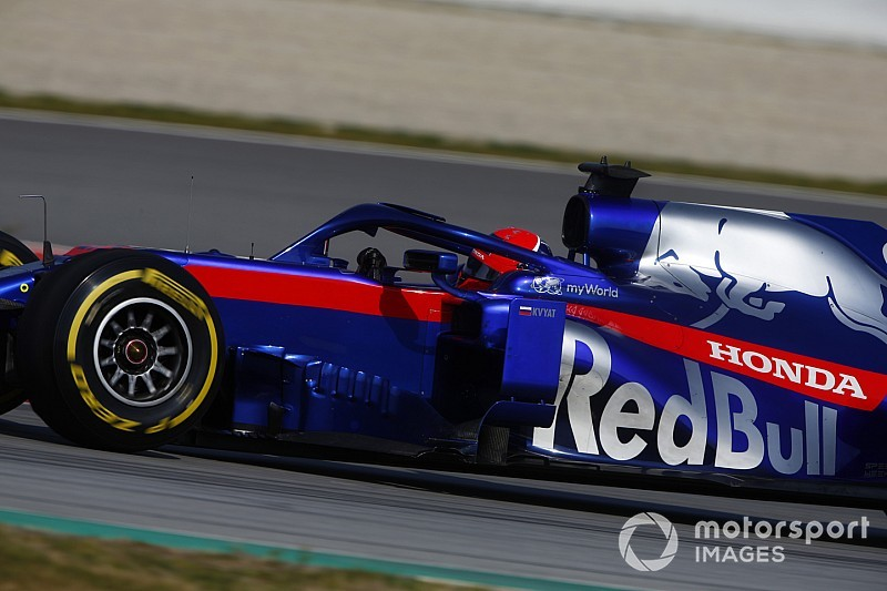 Honda packaging in Toro Rosso's car its