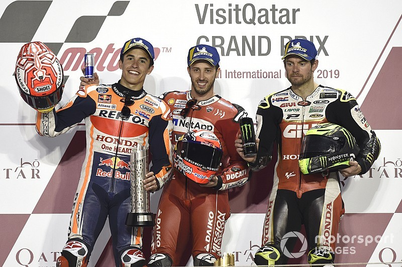 Qatar MotoGP: Dovizioso edges Marquez by 0.023s
