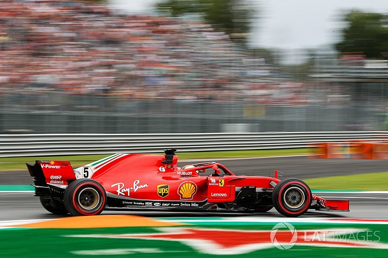 Vettel lideró un 1-2 de Ferrari en Monza y Ericsson sufrió un duro accidente
