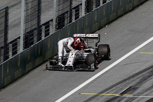 Alfa Romeo alleen beboet voor losgekomen wiel Raikkonen