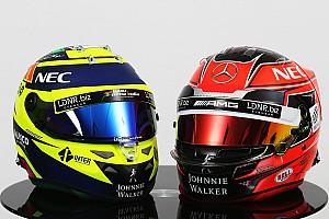Formule 1 Diaporama Photos - Les casques 2017 de Sergio Pérez et Esteban Ocon