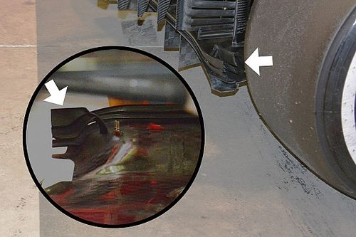 Formel-1-Technik: Der Diffusor und die Winglets am Diffusor des Ferrari SF16-H