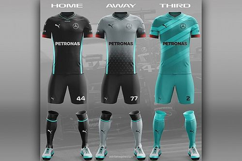 Designer australiano cria desenhos de uniformes de futebol com equipes da F1