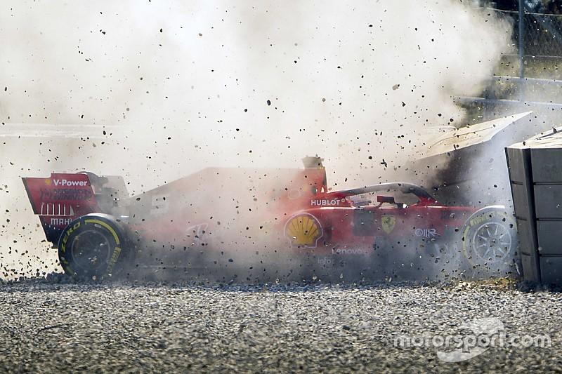 Vettel dopo il crash: