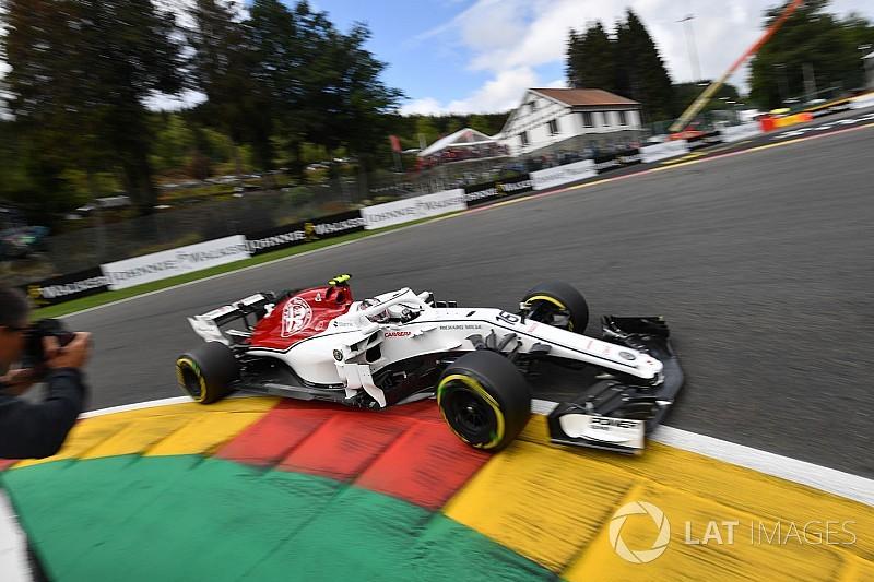 Sauber, Belçika'da 2017'ye kıyasla 3.5 saniye daha iyi bir tur attı