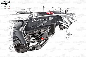 Formule 1 Diaporama Bilan technique - Les évolutions de la Haas VF-17