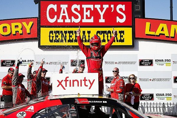 NASCAR XFINITY Race report Justin Allgaier fends off Bell for Xfinity Series win at Iowa