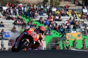 MotoGP Kwalificatieverslag Marquez ondanks crash op pole bij finale in Valencia, 'Dovi' negende