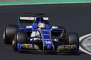 【F1】松下信治、初めてのF1マシンで121周走破「感動的な1日だった」