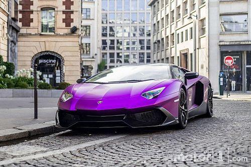 PHOTOS - Une Lamborghini Aventador violette, ça vous tente?
