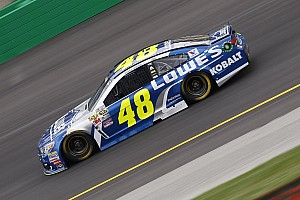 NASCAR Cup Practice report Severe weather halts Cup practice, Jimmie Johnson to a backup