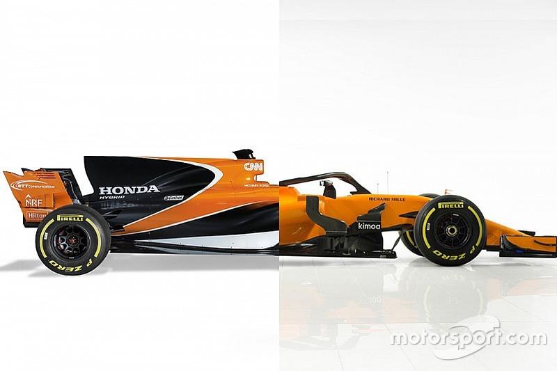 La comparaison des McLaren-Honda MCL32 et McLaren-Renault MCL33