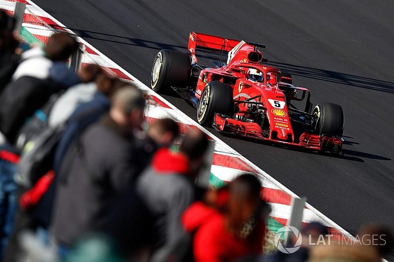 Vettel lleva a Ferrari a un gran récord de pista en Barcelona