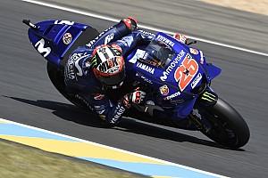 MotoGP Practice report Le Mans MotoGP: Vinales tops FP3, Marquez crashes