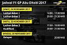 Jadwal lengkap F1 GP Abu Dhabi 2017