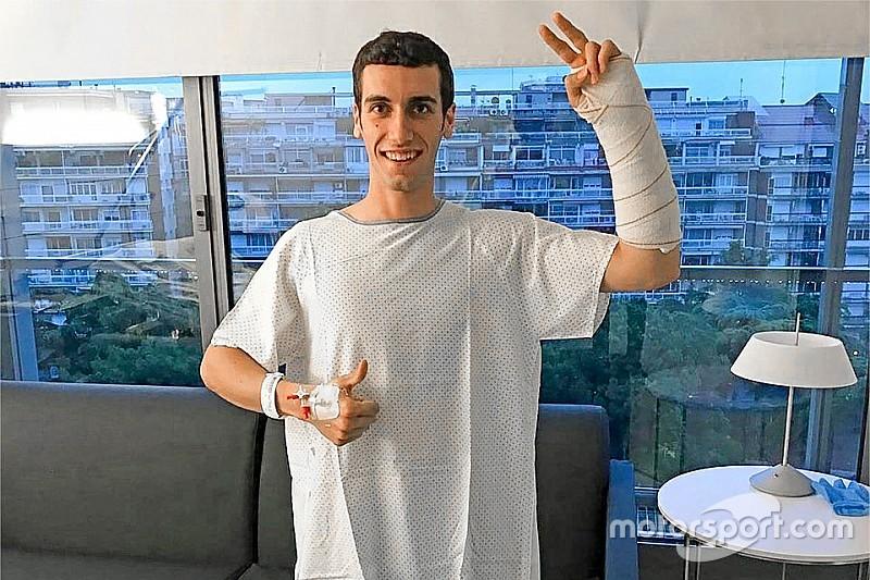 Operasi sukses, Rins absen hingga enam pekan