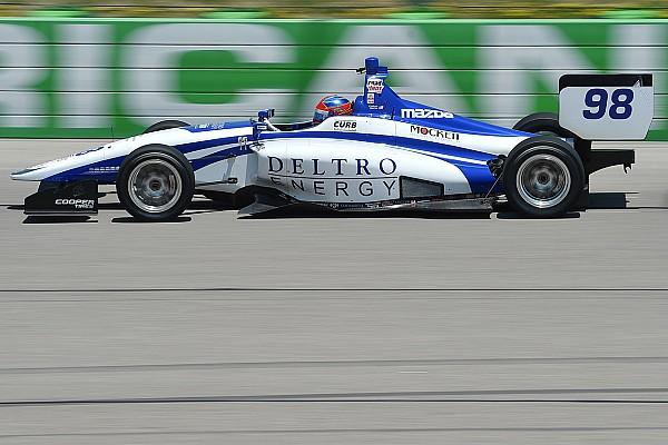 Indy Lights Pole de Colton Herta en la Serie Indy Lights