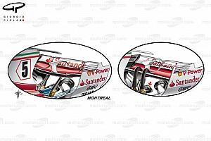 Formel 1 News Formel-1-Technik: Das neue Ferrari-Paket für mittleren Abtrieb