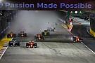 F1 新加坡大奖赛:法拉利双雄雨中起步相撞,汉密尔顿神奇领跑