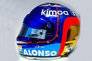 Alonso lucirá un diseño especial en el casco para su última carrera en la F1