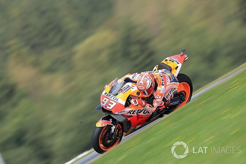 Austria Motogp Marquez Dominates Fp3 Rossi To Q1