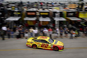 Logano and Truex top final practice; Kyle Busch scrapes the wall