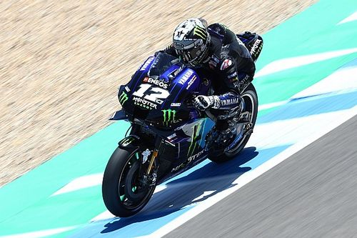 Viñales lidera un doblete de Yamaha en el test colectivo en Jerez