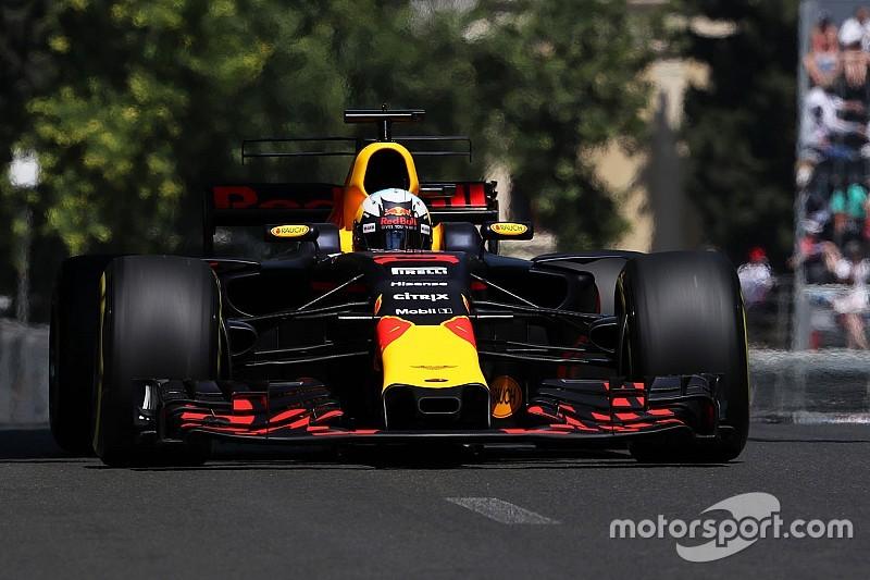 【F1】バクー決勝速報:大波乱のレースをリカルドが制す。ストロール初表彰台の3位