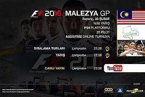 SİMÜLASYON DÜNYASI Son dakika F1 2016 online turnuva: Malezya GP - Canlı Yayın