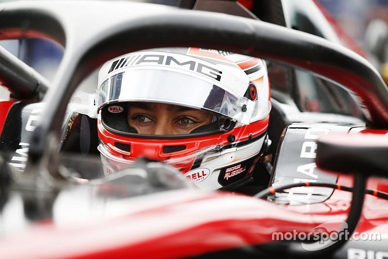 F2 Abu Dhabi: Russell begint goed aan titeljacht, De Vries vijfde