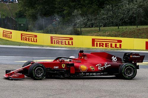 フェラーリ、ベルギーGPでルクレールに3基目PU投入へ。ハンガリーGPクラッシュでダメージ