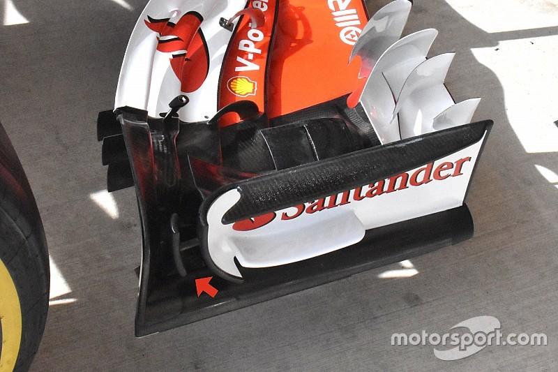Ferrari: c'è un micro-profilo a T attaccato alla paratia dell'ala anteriore