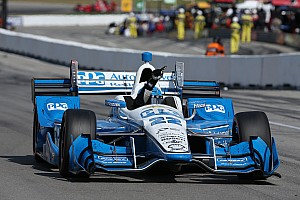 IndyCar Race report Pagenaud fights back, beats Power in Mid-Ohio