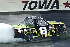 NASCAR Truck Race report Nemechek takes Iowa victory with three-wide pass for the win
