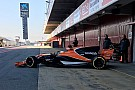 Formula 1 New McLaren completes first run at Barcelona