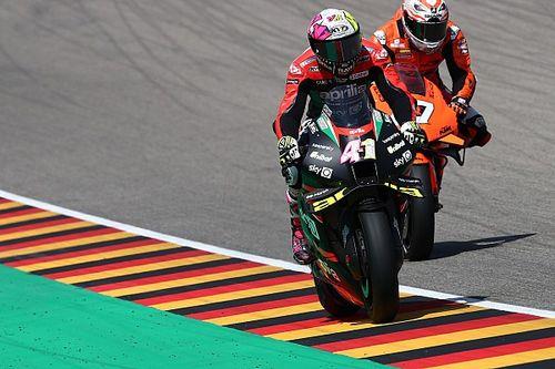 "Aprilia ""not ready"" for MotoGP podium despite Germany form"