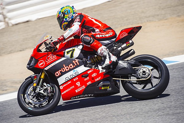 Chaz Davies on top at Laguna Seca after Friday's sessions, Davide Giugliano is sixth