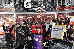 NASCAR Cup Breaking news Hamlin wins Watkins Glen despite