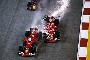 F1 Top List GALERÍA: el choque en la arrancada de Singapur