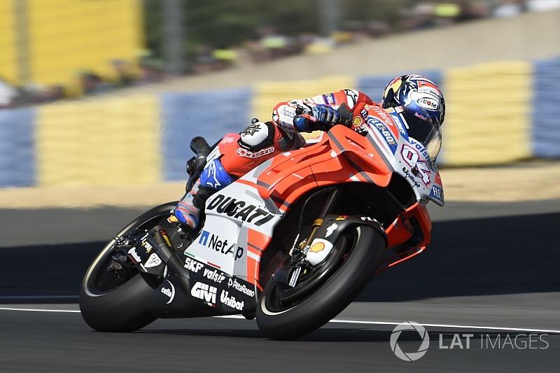 VIDEO: Dovizioso terjatuh saat memimpin balapan