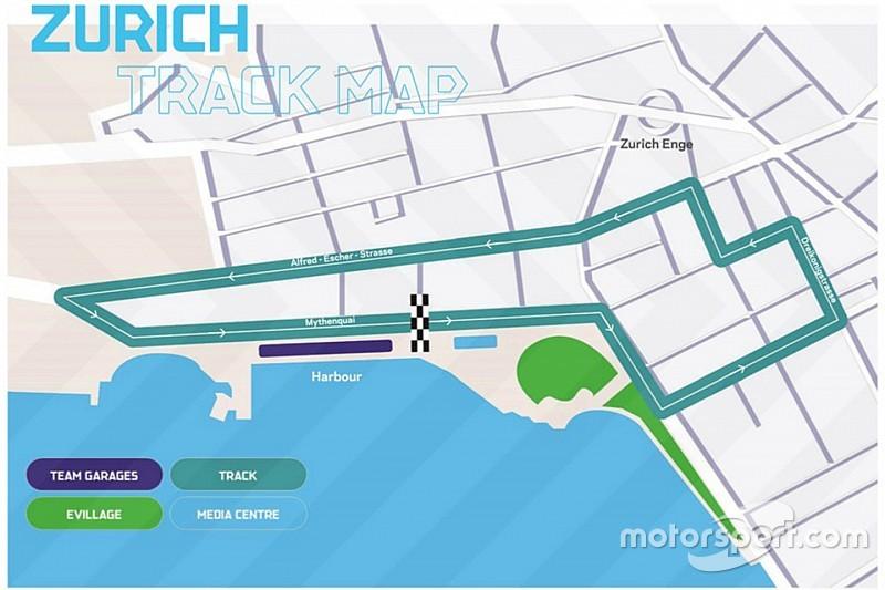 Le tracé de l'E-Prix de Zurich dévoilé