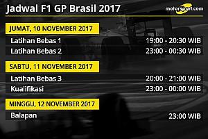 Formula 1 Preview Jadwal lengkap F1 GP Brasil 2017