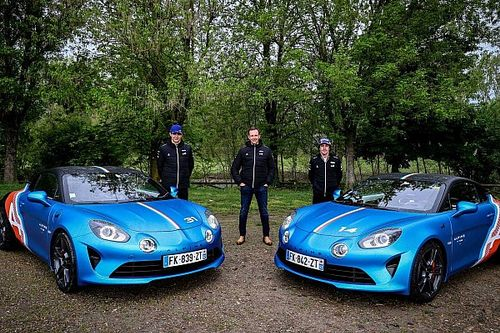Alpine A110s debut as daily commuters for its F1 drivers