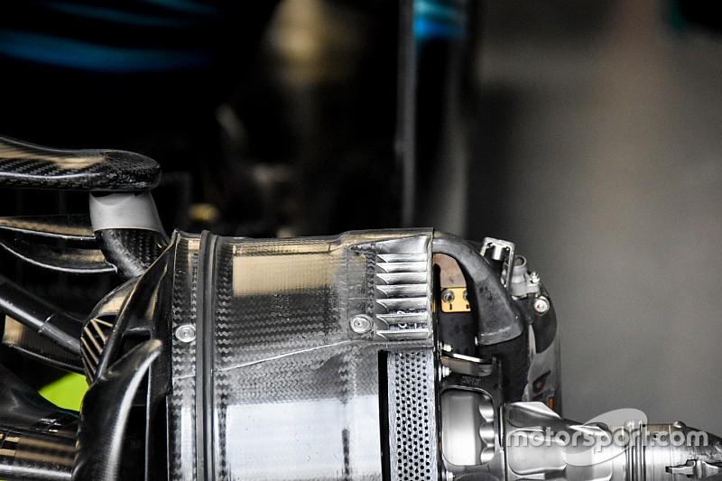 Mercedes: ecco come si scaldano le gomme anteriori della W08