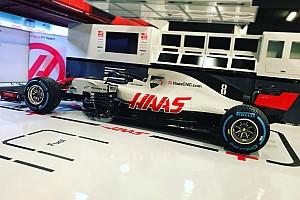 Forma-1 Motorsport.com hírek Az első valós kép a Haas 2018-as autójáról