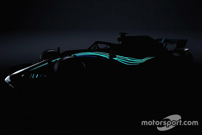 メルセデス、新車W09のイメージを先行公開。21時過ぎにオンライン発表