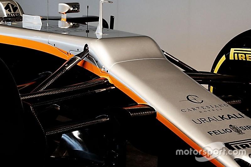 "Force India explica su ""desafortunada"" nariz en el VJM10"